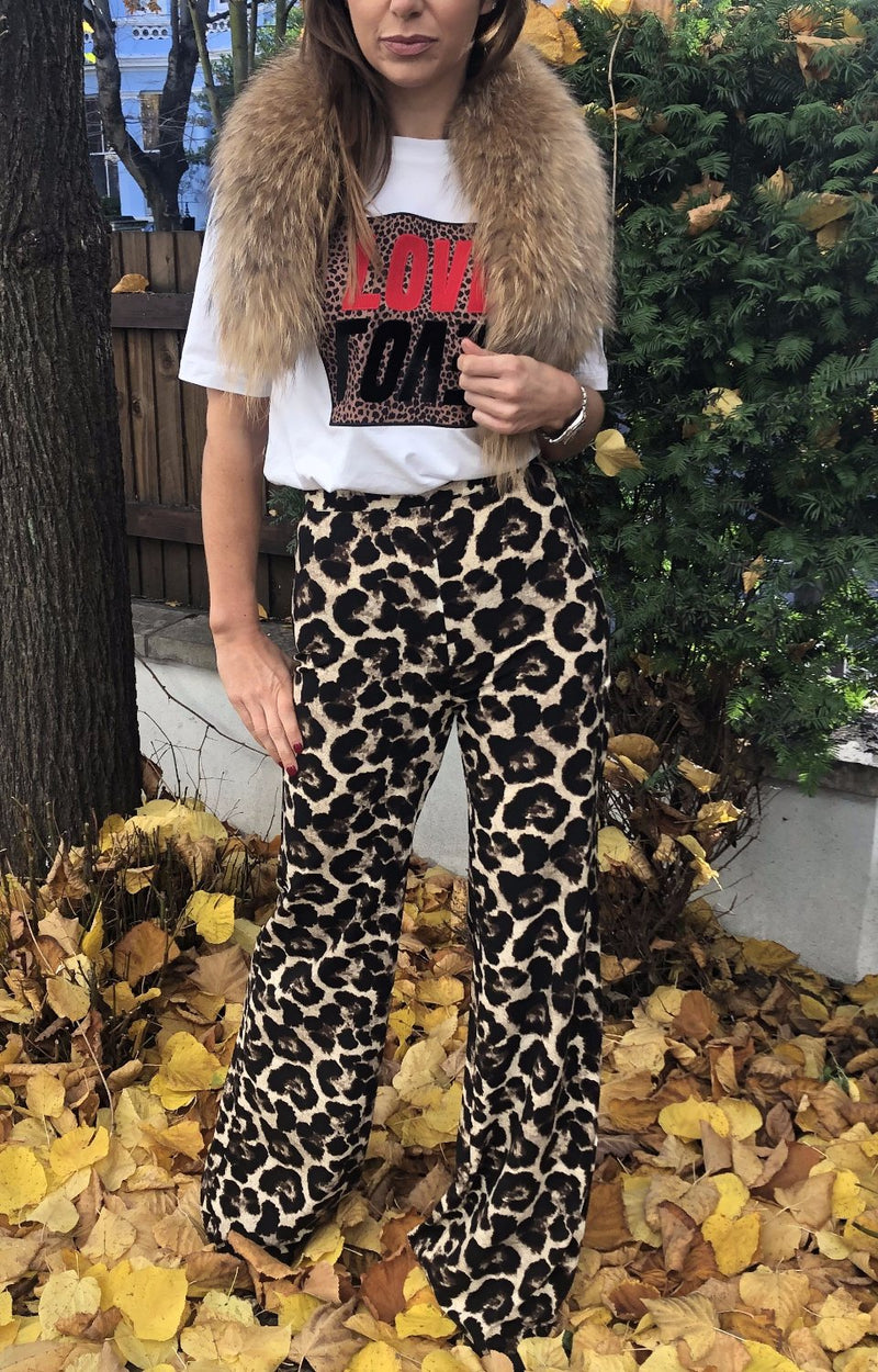 Stella Trousers in Winter Leopard
