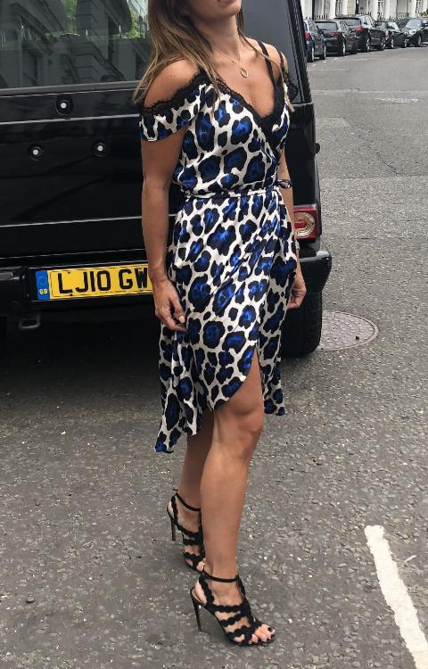 Scarlett Blue Leopard Dress