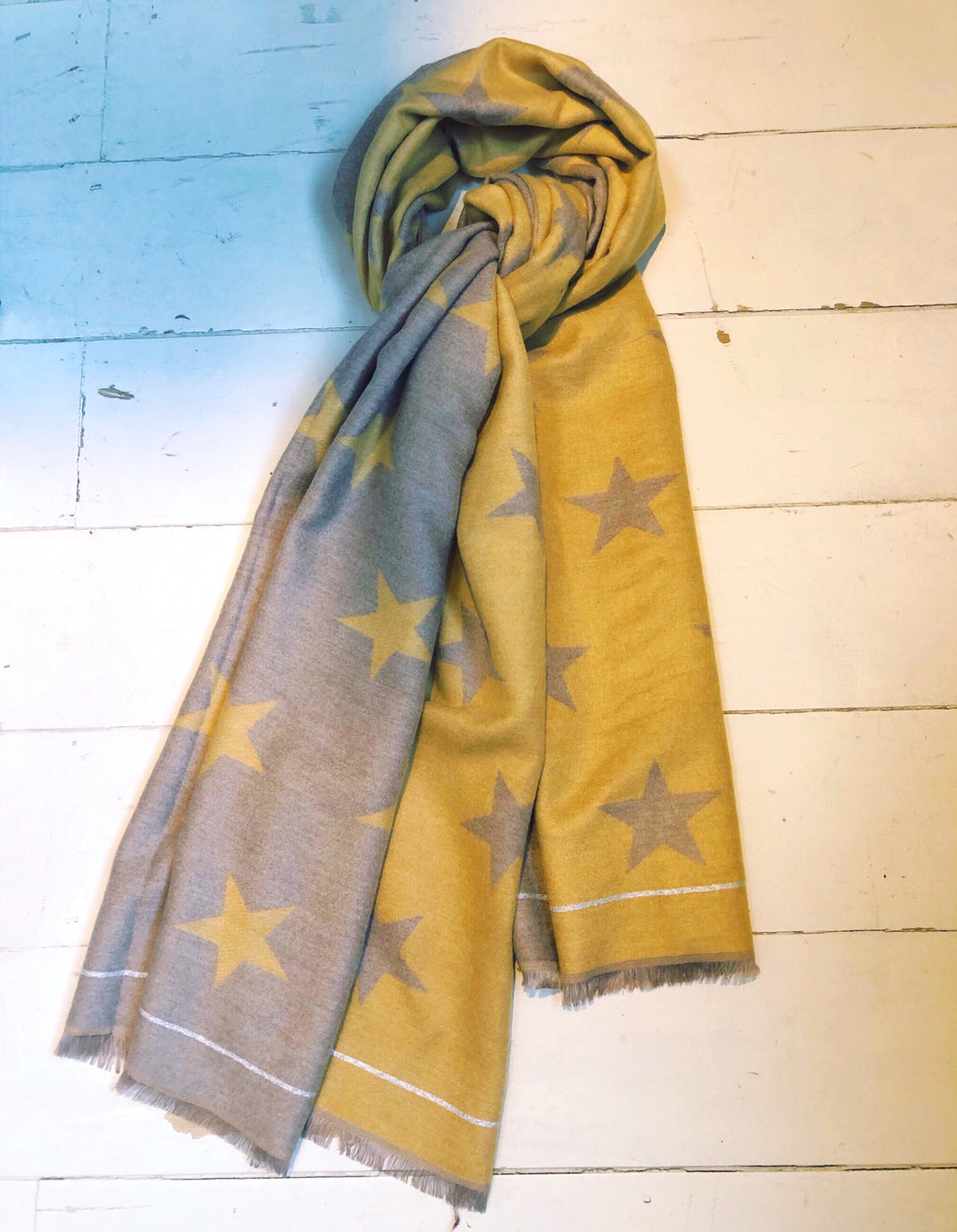 All star Scarf Taupe/ Yellow