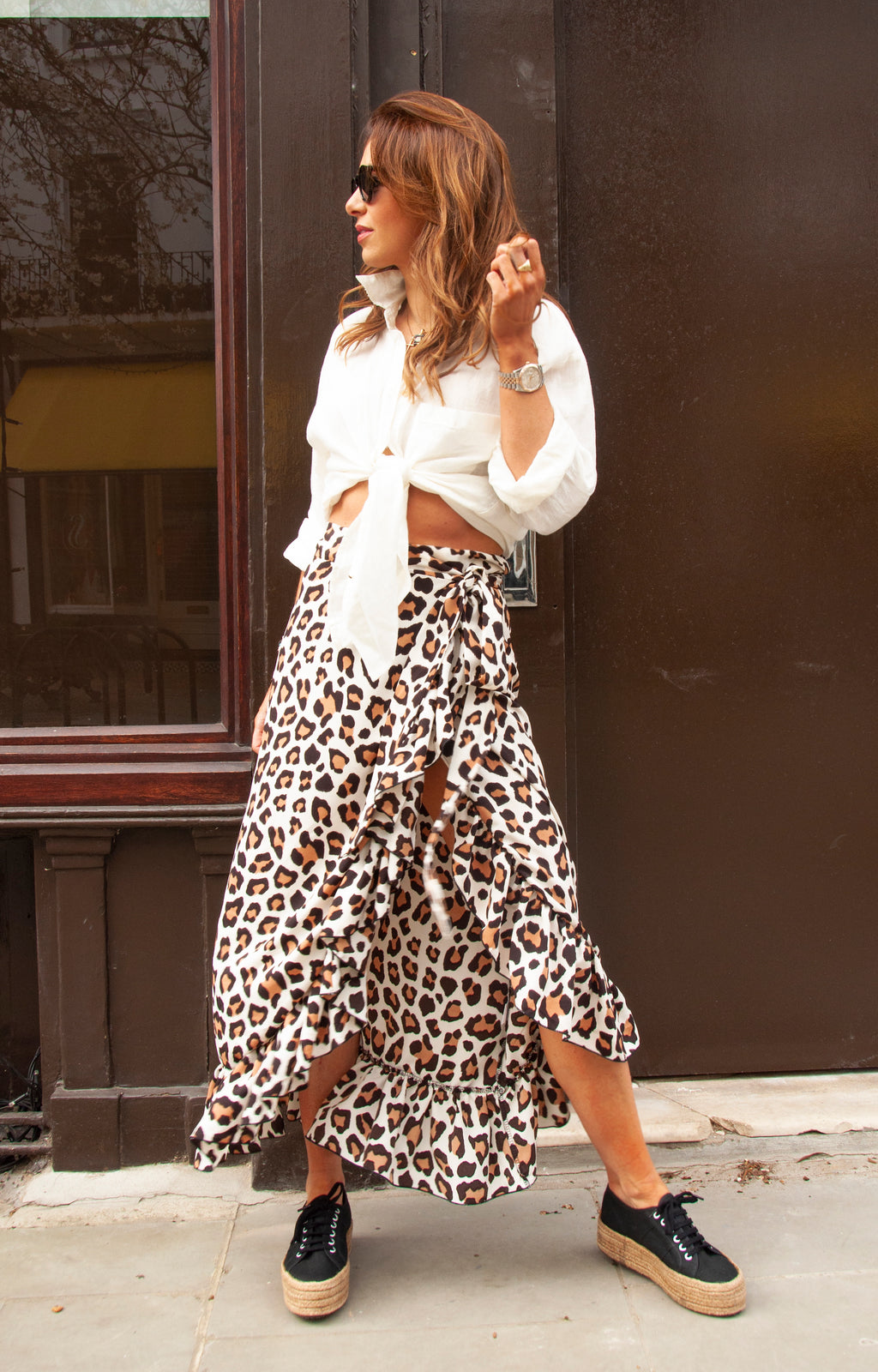 SCARLETT Skirt in Beige Cheetah