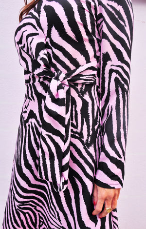 Load image into Gallery viewer, Thea Dress in Violet Zebra