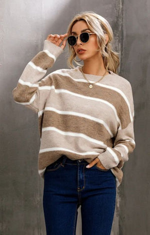Load image into Gallery viewer, Ash Stripe Jumper