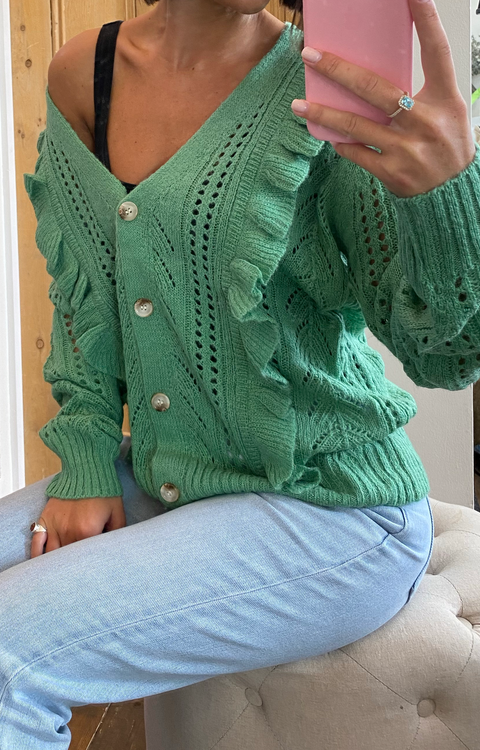 Angel Knit Cardi Green