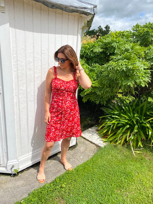 ROSIE DRESS IN RED