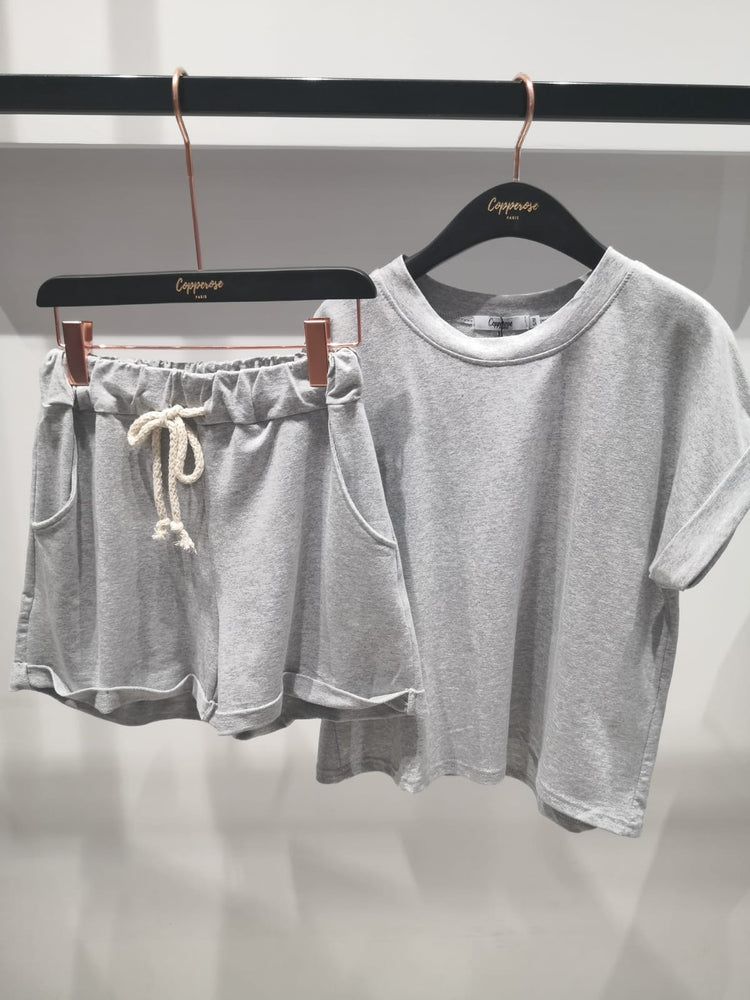 Short Set  - Marl grey
