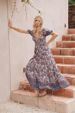 JA Moyo Dress In Clemence Print
