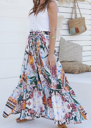 Load image into Gallery viewer, JA DAPHNE SKIRT IN VANIDA PRINT