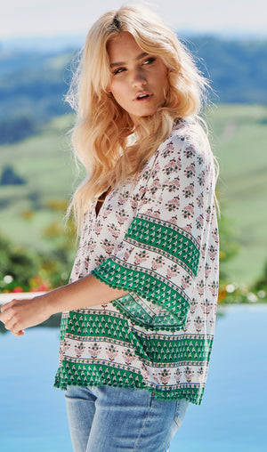 JA GABRIELLA TOP IN MASTO PRINT