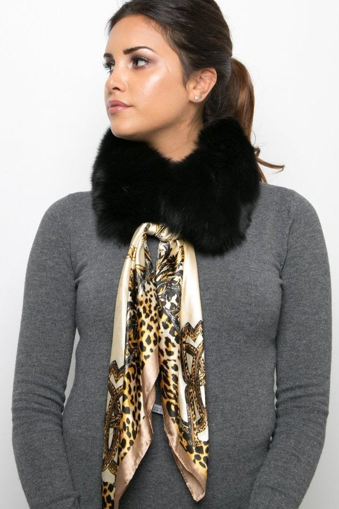 RUBY black animal print