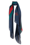 Plaza Scarf Navy Bee Print