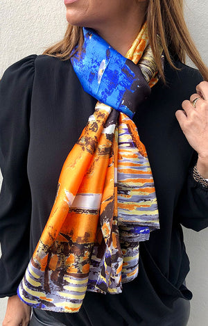 Plaza Scarf Sunset Print