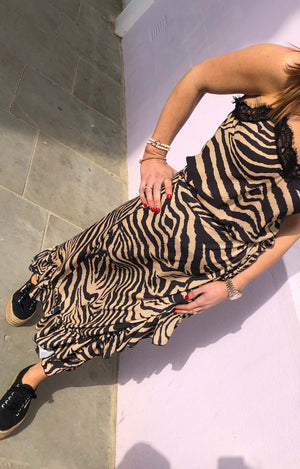 SCARLETT Skirt in Gold Zebra