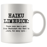 Haiku Limerick Mug - Great Gift for Poetry Lovers
