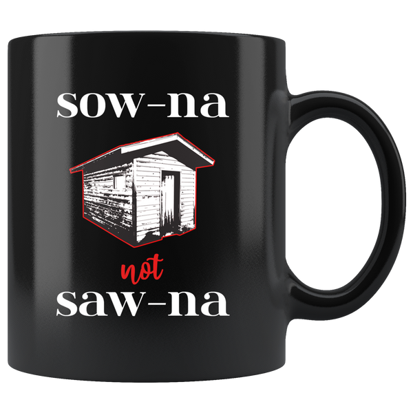 Funny Sauna Mug - How to Pronounce Sauna - Gift for Yoopers/Finns