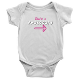 Twin Girls Infant One-Piece Body Suit (Part of Set) - She's a Photocopy