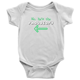 Twin Boys Infant One-Piece Body Suit (Part of Set) - No, He's the Photocopy