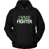 Lyme Fighter Hoodie with Lime Green Awareness Ribbon