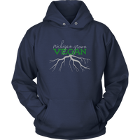 Vegan Hoodie Pullover - Michigan Grown Vegan