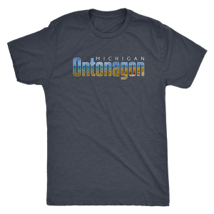 Ontonagon Michigan Shirt - Lake Superior Waves in Fall/Autumn