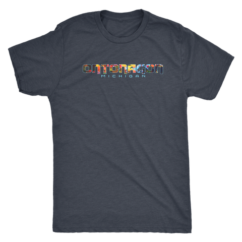 Ontonagon Michigan Shirt - Colorful Leaves in Fall/Autumn