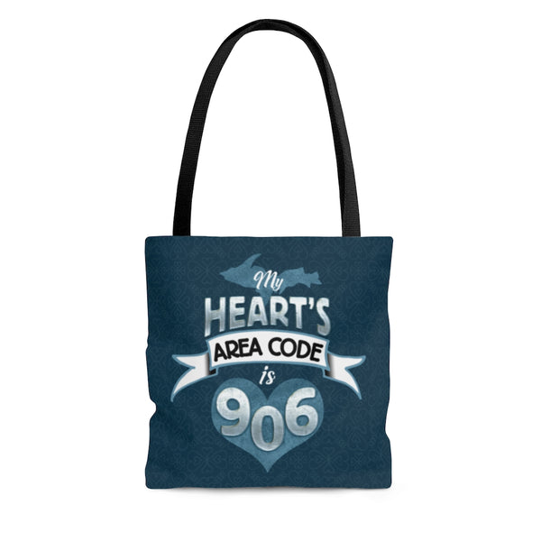 906 Upper Michigan Yooper Tote Bag - My Heart's Area Code