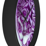 Vegan or Vegetarian Red/Purple Cabbage Wall Clock