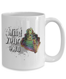 Mind Your Own Bismuth Mug for Rock Lovers