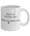 Traumatic Brain Injury Warrior Mug Green Ribbon