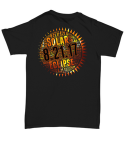 Solar Eclipse 2017 Shirt For Stargazers (design on back)