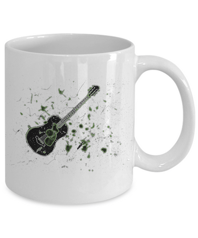 Acoustic Guitar Mug With Grunge Effects