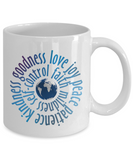 Christian Coffee Mug with Fruitage of Spirit Bible Scripture