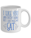 I Like You and Everything But I Just Miss My Cat Mug