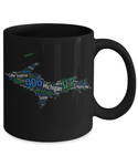 Upper Peninsula of Michigan Yooper Map Mug
