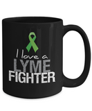 I Love a Lyme Fighter Mug Green Awareness Ribbon