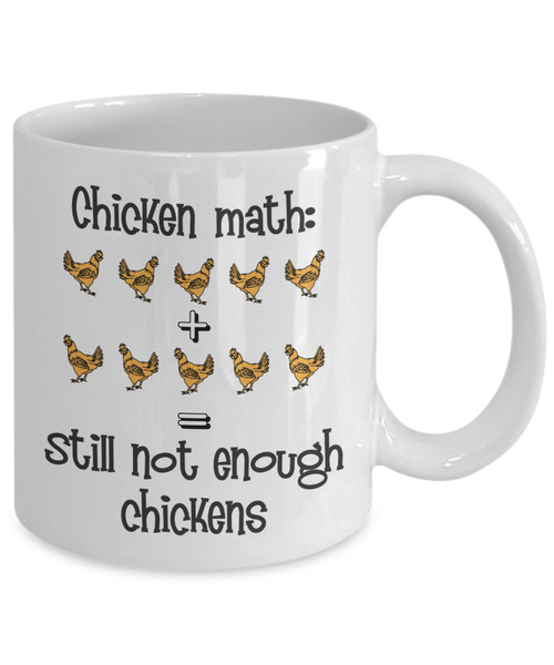 "Chicken Themed Gift Mug - ""Chicken Math"""