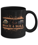 I Love Rock and Roll Mug Agate and Rock Tumbler