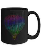 Hot Air Balloon Fly Away Mug Rainbow Colors
