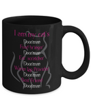 I Am My Cat's Doorman Mug - Gift for Cat Lovers
