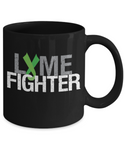 Lyme Fighter Disease Mug Green Awareness Ribbon