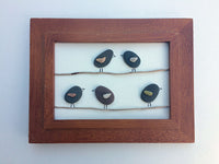 Birds on a Wire - Lake Superior Rock and Driftwood Art