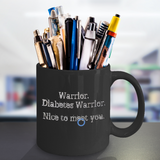 Diabetes Warrior Mug Blue Awareness Circle for Diabetics
