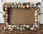 Frame with Lake Superior Rocks | Wood Frame