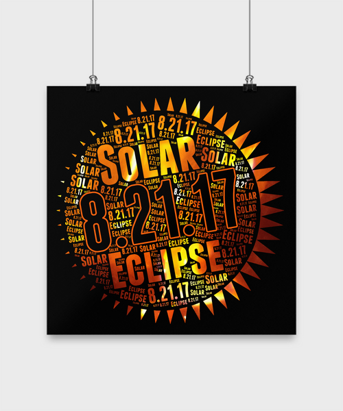 Solar Eclipse Poster 2017 Astronomy Stargazers