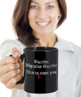Migraine Headache Warrior Mug Burgundy Awareness Ribbon