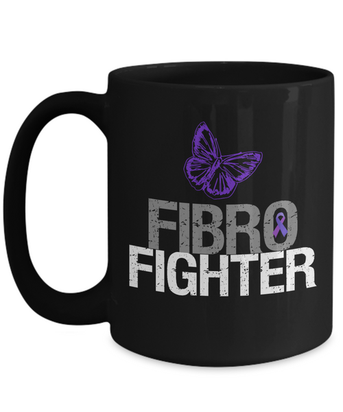 "Fibromyalgia Awareness Mug - ""Fibro Fighter"""