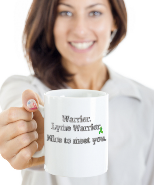 Lyme Disease Warrior Mug Green Awareness Ribbon