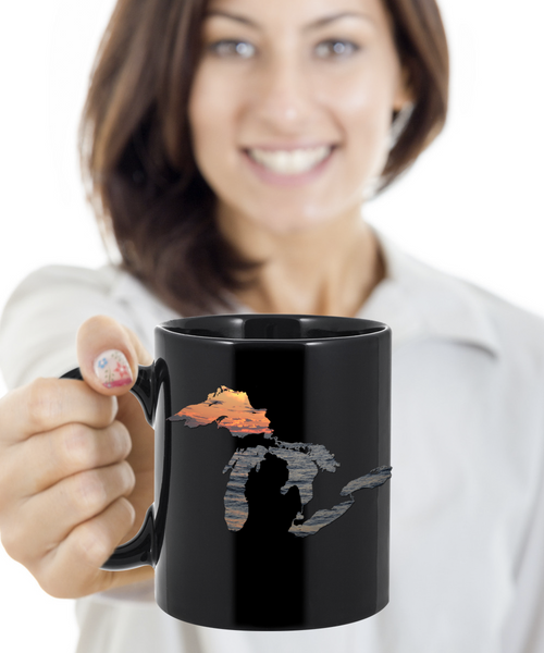 Great Lakes Coffee Mug - Sunset Over Water