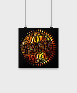 Solar Eclipse Poster 2017 Astronomy