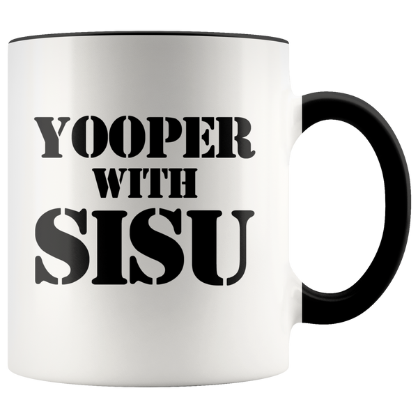 Yooper with Sisu Mug | Finnish Gift | Upper Michigan Residents