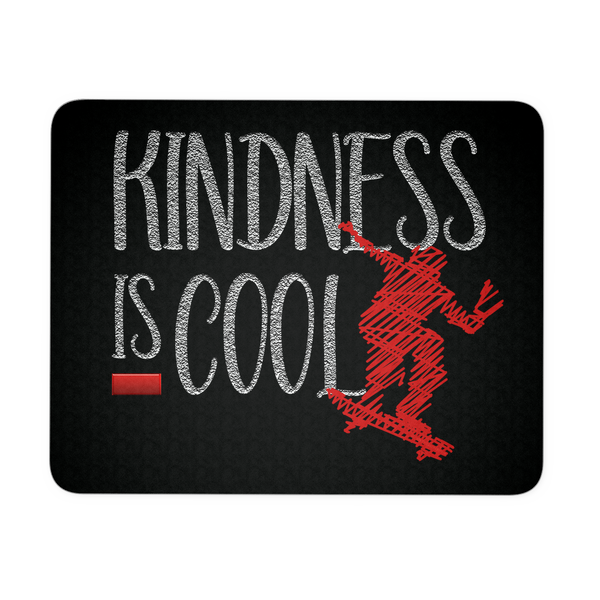 Anti Bullying Mouse Pad - Kindness Is Cool With Skateboarder Graphic